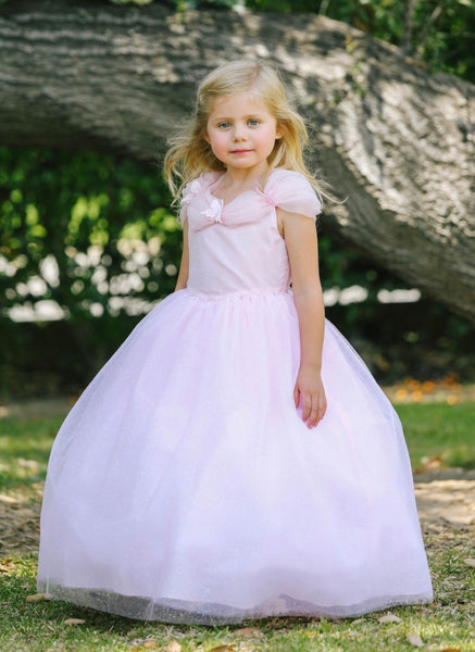 Ellie Dress- princess ballgown pink pageant flowergirl vintage dress glittler tulle dress flower princess Cinderella dress costume