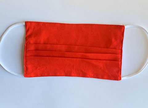 RED FACEMASK/ USA Made Soft Cotton Face Mask Double Layer/ Face Covering
