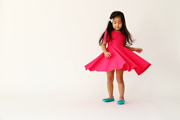 Fit & Flare Dress- Fuchsia Pink