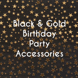 Black and Gold Party Accessories