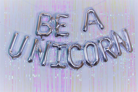 Be A Unicorn Silver Foil Banner