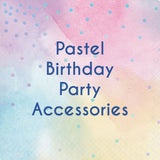 Pastel Party Decorations and Accessories