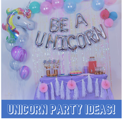Unicorn Party Decorations, accessories and ideas
