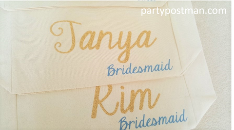 canvas bag design bridesmaid gift