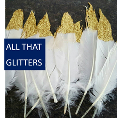Glittered Party Accessories and Decorations