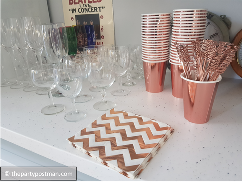 Rose Gold Party accessories