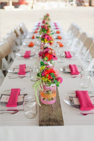 Bright Pink and Orange decoration ideas