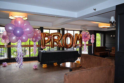Large Foil Gold Letter Balloons - The Party Postman