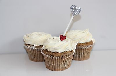 Arrow Heart Cupcake Toppers - The Party Postman