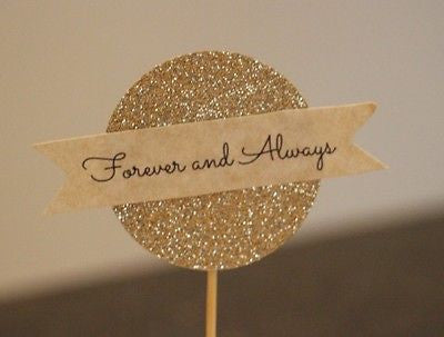 Forever & Always Cupcake Toppers - The Party Postman