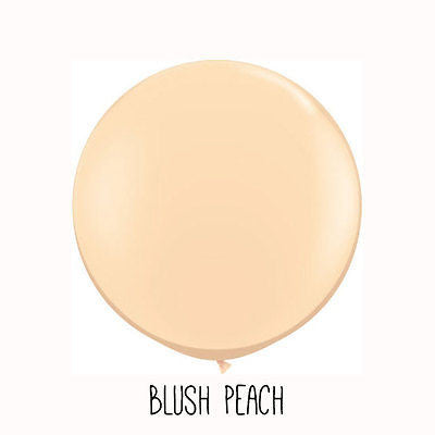 3 ft Champagne Peach Round Balloon - The Party Postman