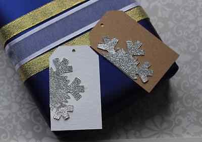 Glittered Snowflake Tags - The Party Postman