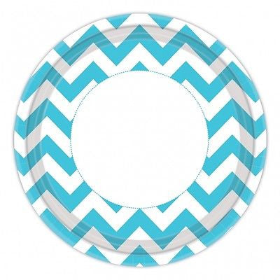 Blue Chevron Party Decorations - Party Packs - The Party Postman