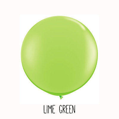3 ft Lime Green Round Balloon - The Party Postman