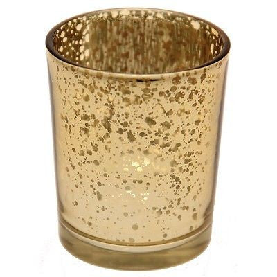 ANTIQUE GOLD TEA LIGHT HOLDERS - The Party Postman