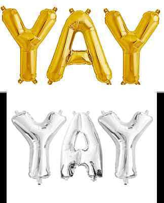 Giant YAY Foil Balloons - The Party Postman