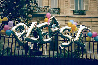 Large Foil Silver Letter Balloons - The Party Postman