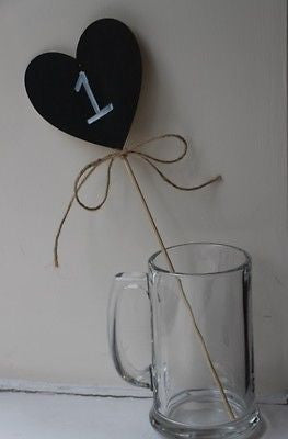 Large Chalkboard Heart With Twine - The Party Postman