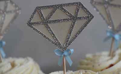 Diamond Engagement Cupcake Toppers - The Party Postman