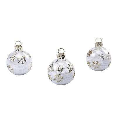 Gold Snowflake Christmas Baubles - The Party Postman