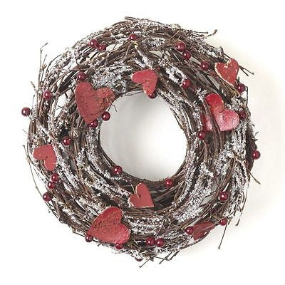 Twig and Heart valentines house Wreath decoration or wedding accessory - The Party Postman