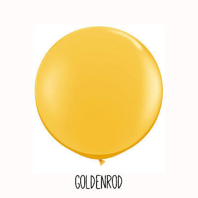3 ft Gold Orange Round Balloon - The Party Postman