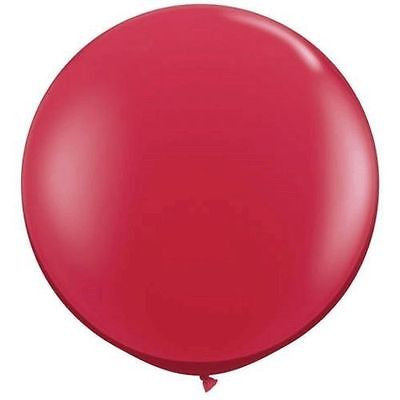3ft Red Round Balloon - The Party Postman