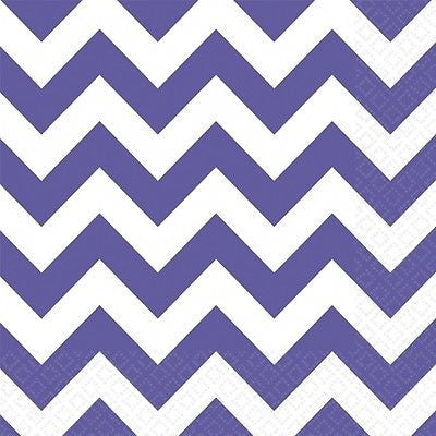 Purple Chevron Party Decorations - Party Pack - The Party Postman