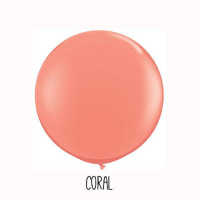 3 ft Coral Orange Round Balloon - The Party Postman