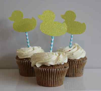Little Duckling Baby Shower Cupcake Toppers - The Party Postman
