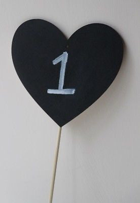 Large Chalkboard Heart - The Party Postman