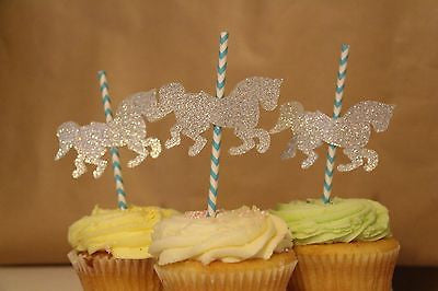 Carousel Horse Cupcake Toppers - The Party Postman