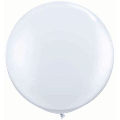 3ft White Round Balloon - The Party Postman
