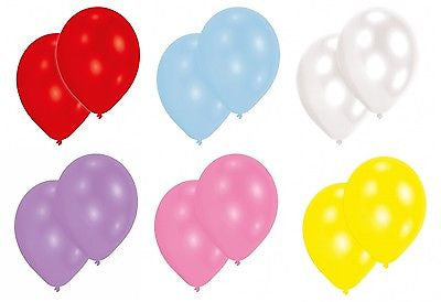 Latex Balloons Red, White, Powder Blue, Lavender, Pink, Yellow - The Party Postman