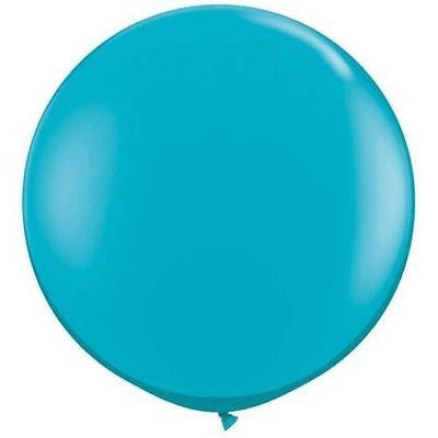 3ft Tropical Blue Round Balloon - The Party Postman