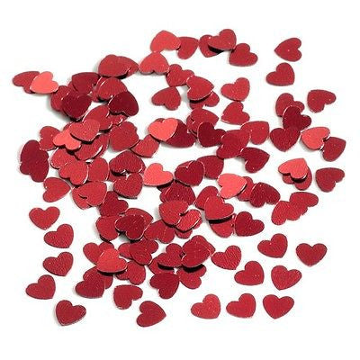 Red Heart Small Table Confetti Valentines Wedding decoration white theme party - The Party Postman