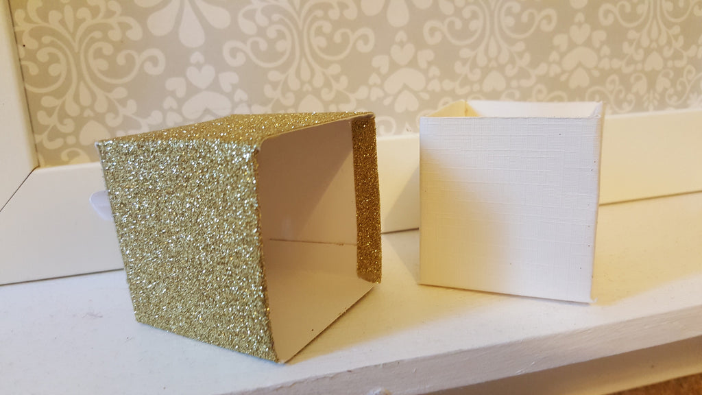 Gold Glitter Favour Boxes - The Party Postman