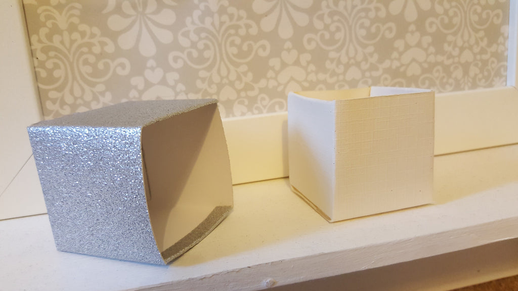 Silver Glitter Favour Boxes - The Party Postman