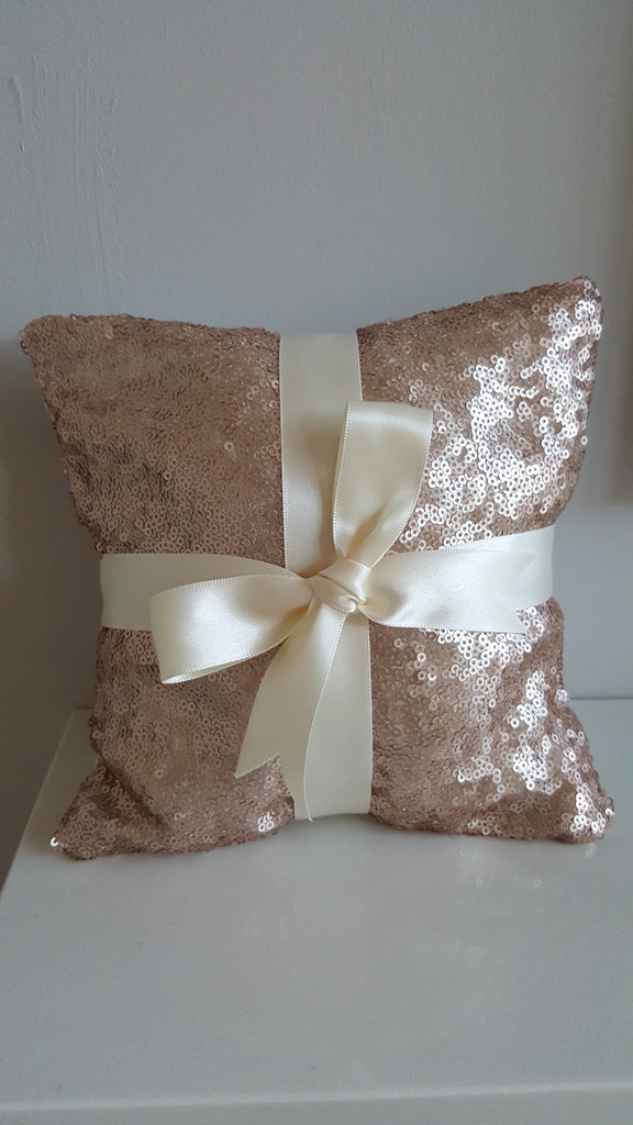 Rose Gold Ring Bearer Pillow for Weddings