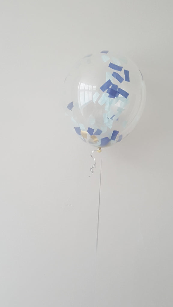 Clear Balloons with Thick Confetti inside - The Party Postman