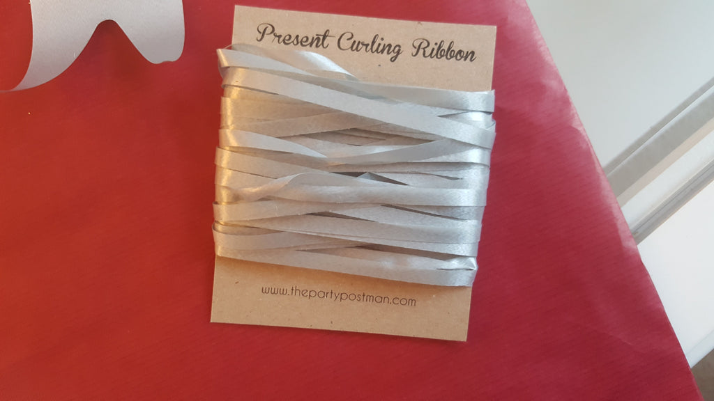 Cerise Kraft Wrapping Paper With Silver Tags, String and Bow - The Party Postman