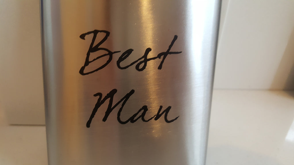 Best Man Hip Flask - The Party Postman