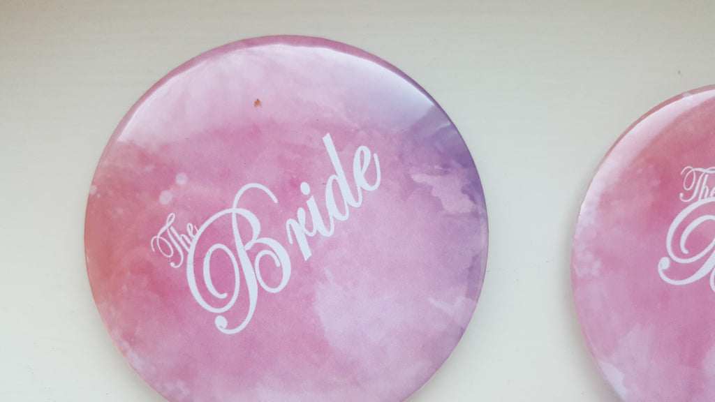 Watercolour Bride Badge / Button for Hen Night - The Party Postman