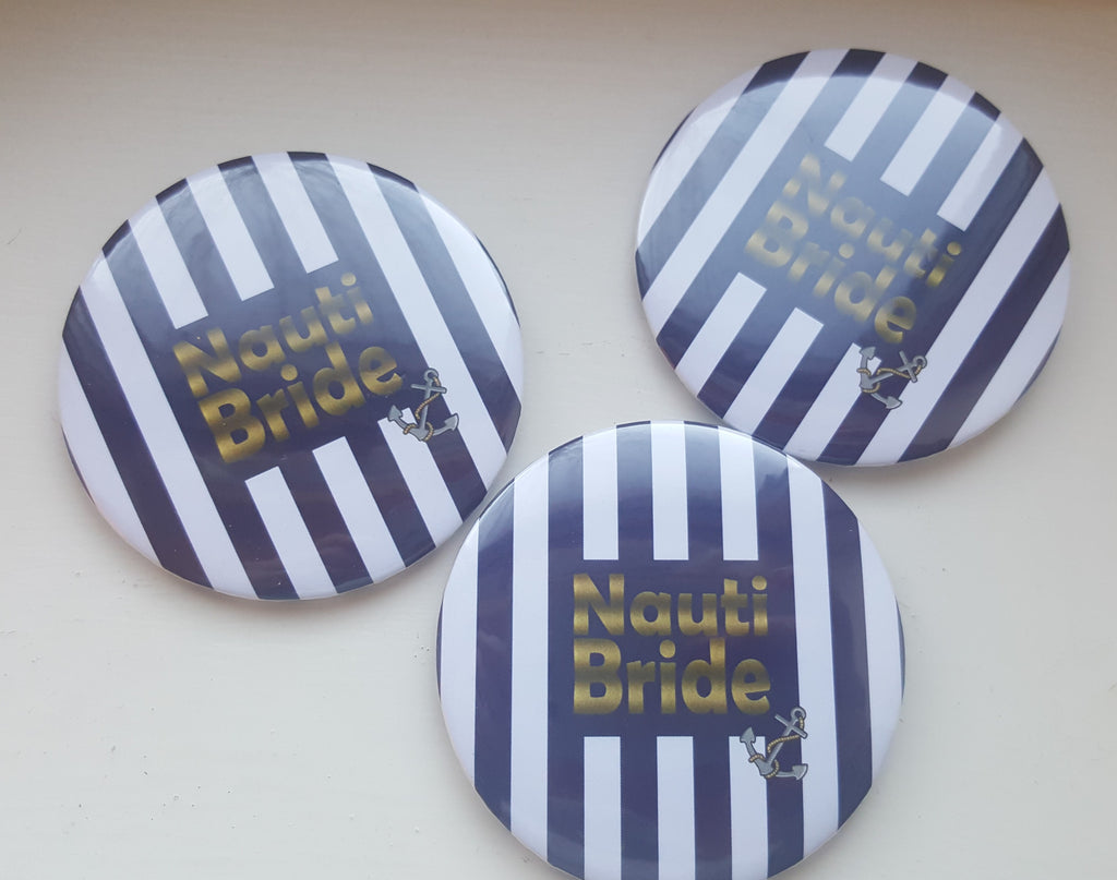 Sailor Themed Bride Badge / Button for Hen Night - The Party Postman