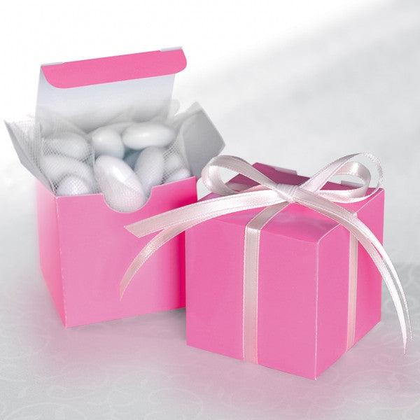 Bright Pink Favour Boxes - Pack of 12 - The Party Postman
