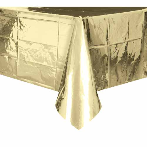 Metallic Gold Plastic Tablecover