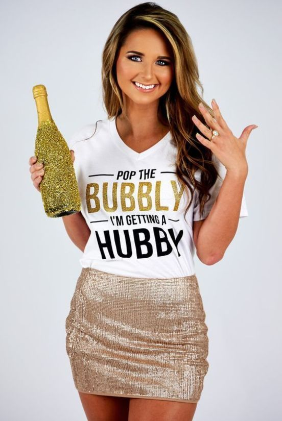 Pop The Bubbly I'm Getting a Hubby Bachelorette Hen Do t-shirts Bachelorette Party Shirts, Bride Shirt, Gift for Bride, Wedding Day