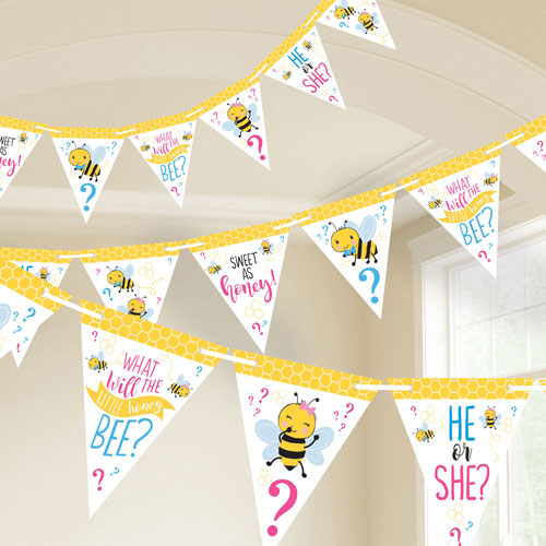 What Will it Bee? Gender Reveal Party Banner