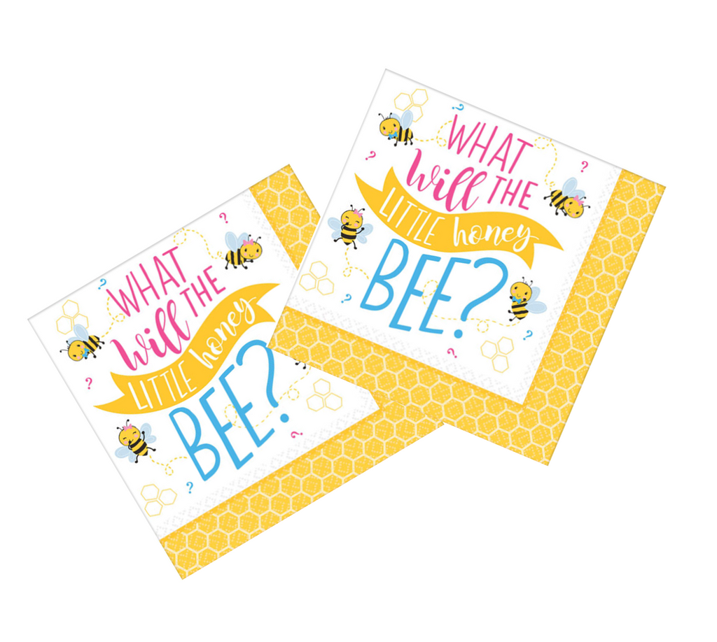 What Will it Bee? Gender Reveal Paper Napkins