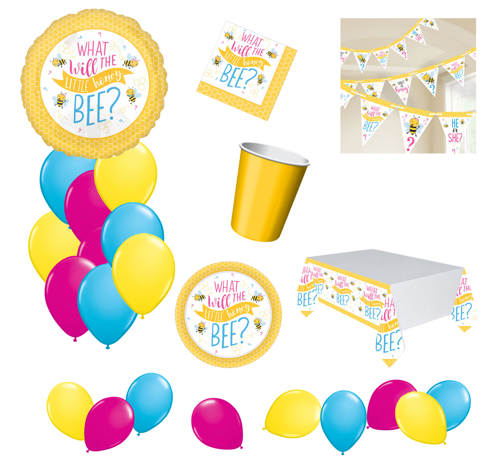 What Will It Bee? Gender Reveal Baby Shower Party Packs